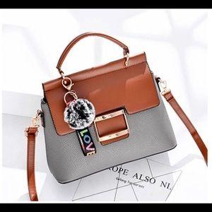 Gray and brown medium size bag